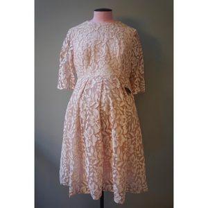 Chi Chi London Maternity Karlie Dress // Blush